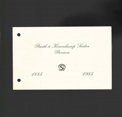 Die Einladungskarte zum 100-jährigen Firmenjubiläum